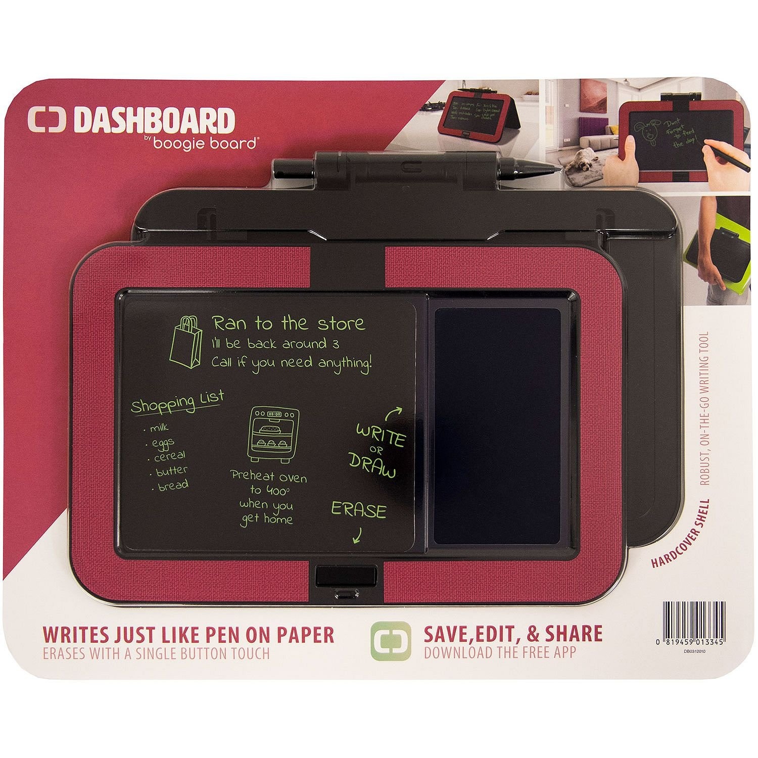 Boogie Board Dashboard Hardcover Shell, Red