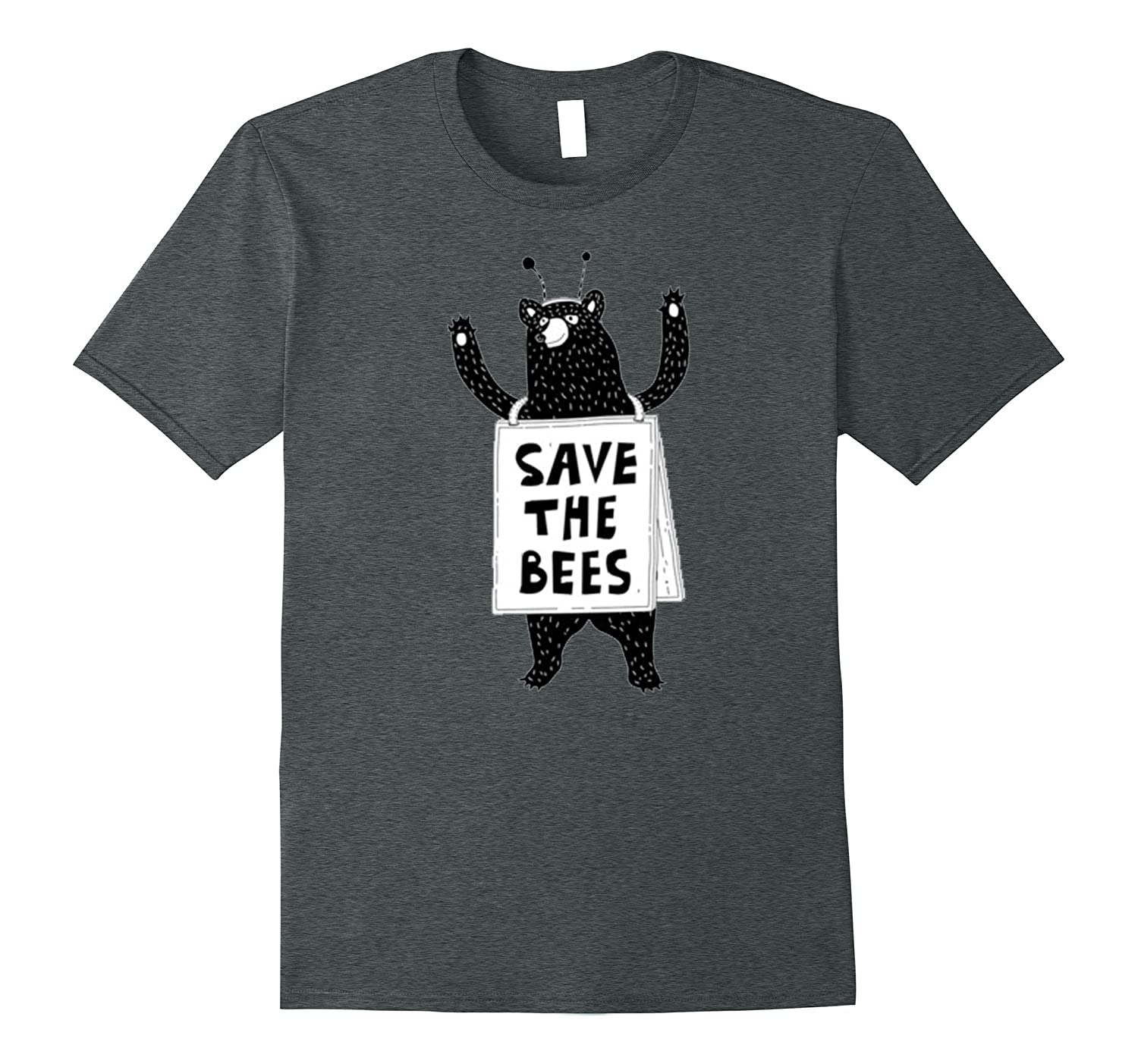 Save The Bees Honeybees Grizzly Bear Cartoon T Shirt