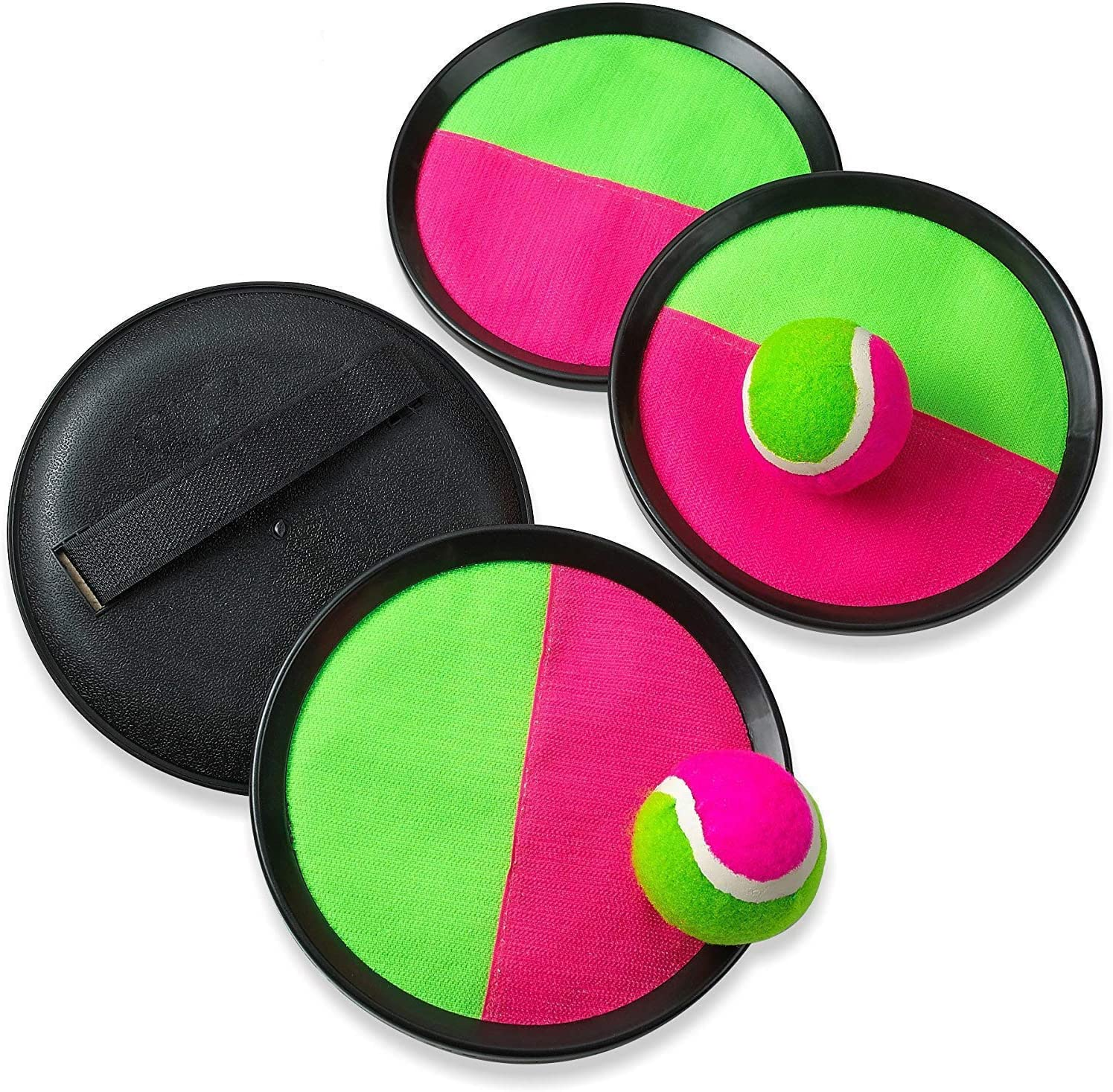 2 Balls and 1 Storage Bag Perfect Outdoor Toy Gift for Kids Upgraded Version Ayeboovi Toss and Catch Ball Game Velcro Ball Catch Game Paddle Game Set with 2 Paddles