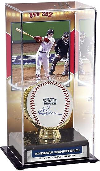 674fed482 Andrew Benintendi Boston Red Sox 2018 MLB World Series Champions  Autographed Logo Baseball and 2018 MLB