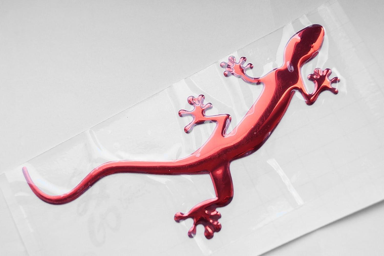 Porta Frigorifero Adesivo Autoadesivo in Metallo Adesivo per Auto 3D Adesivo Rosso Gecko Dolce Notebook Moto Scooter PRESKIN Veicoli a Motore