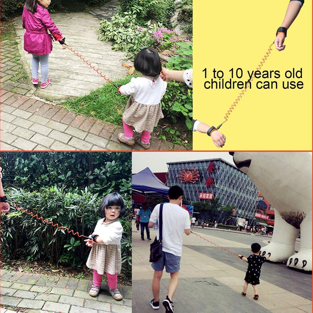 Anti-lost Wrist LESHP Toddler Reins Safety Harnesses Wrist Link 360/° Adjustable Breathable Hand Belt for Children Kids Walking Blue