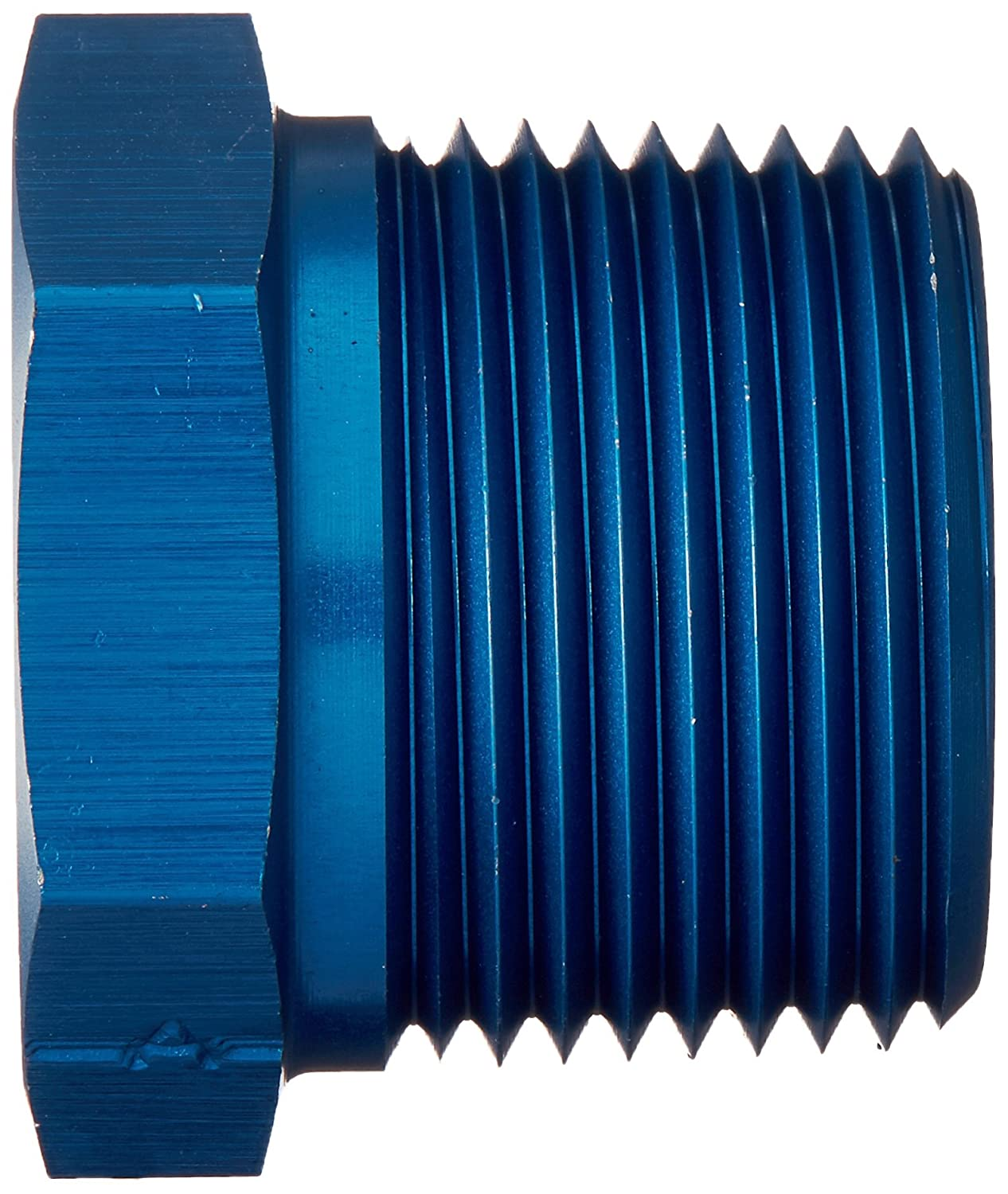 Aeroquip FCM2143 Blue Anodized Aluminum 3//4 to 3//8 Reducer Pipe Bushing