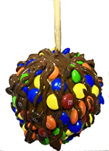 Gourmet Jumbo Caramel Apple (M&M Dark Chocolate)