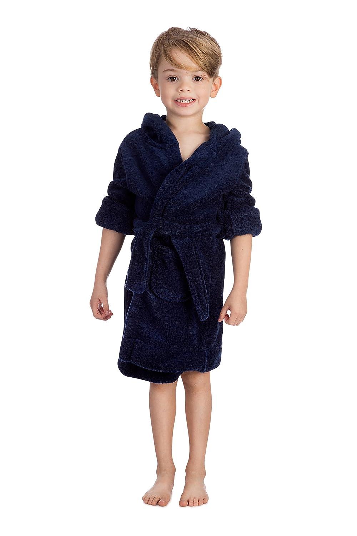 14Y Elowel Boys Girls Hooded Childrens Fleece Sleep Robe Size 2 Toddler