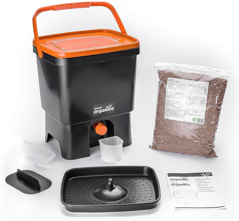 bokashi Orga Nico Juego – innovadora bio Cubo de basura para basura de cocina y Compost: Amazon.es: Hogar