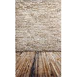 Telon de fondo de pared - SODIAL(R)3x5ft Telon de fondo de pared de luz agrisada clara de piso madera de apoyo de fotografia