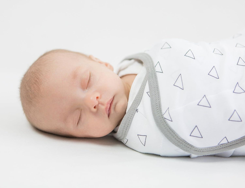 Lot de 3 couvertures//langes r/églables pour b/éb/é Amazing Baby by SwaddleDesigns
