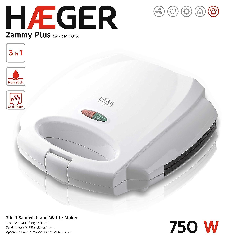 haeger zammy Plus Sandwich Toaster Blanc