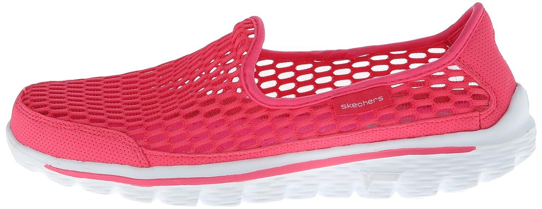Zapatos De Marcha A Pie Skechers Mujeres De Color Rosa Caliente zM3VH