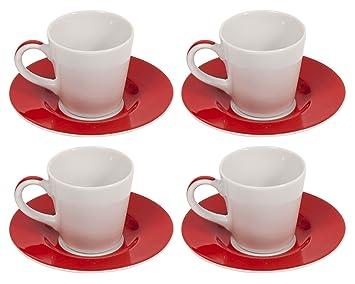 Bialetti Classique Tazze Caffe Tasses à Expresso En Céramique Et
