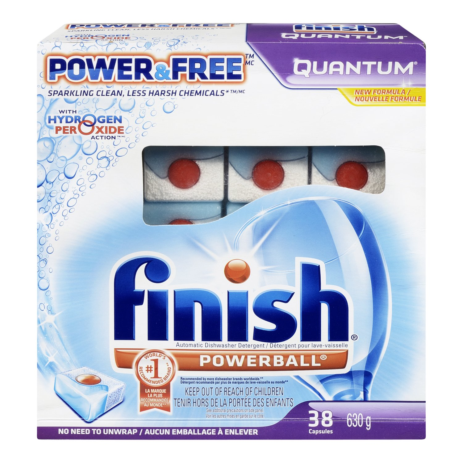Finish Quantum Dishwasher Detergent, Power and Free, 38 Count by Finish (Image #6)