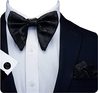 Blulu 10 Pieces Pre-tied Bow Ties Tux Bowtie with Adjustable Strap Formal Neck Bowtie for Mens Party Accessories 10 Styles