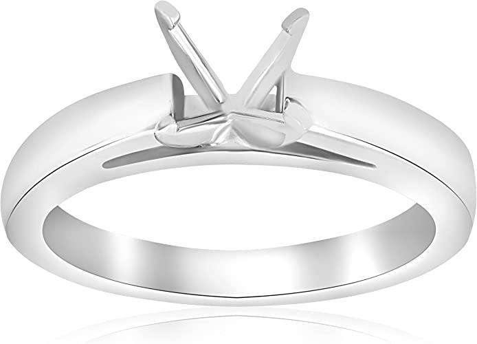 14K Yellow Gold Semi Mount Solitiare Setting Diamond Engagement Ring Mounting