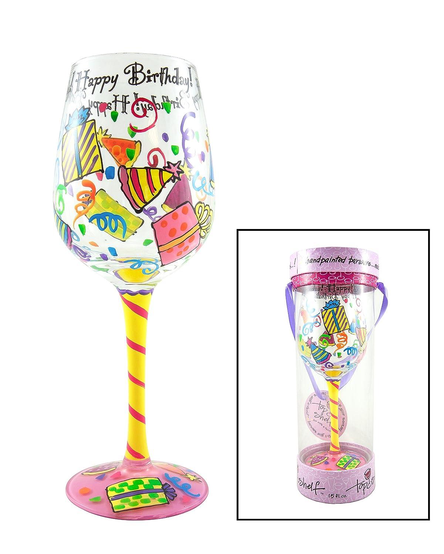 Amazon Top Shelf Happy Birthday Wine Glass
