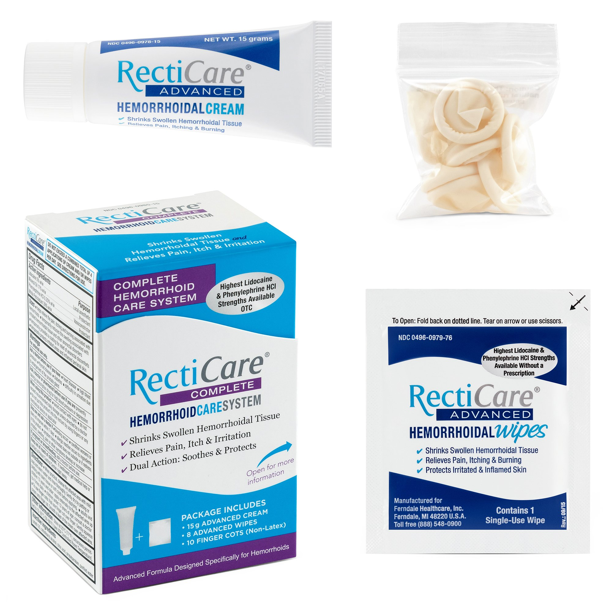 RectiCare Complete Hemorrhoid Care System: Advanced Treatment to Shrink & Soothe Hemorrhoids