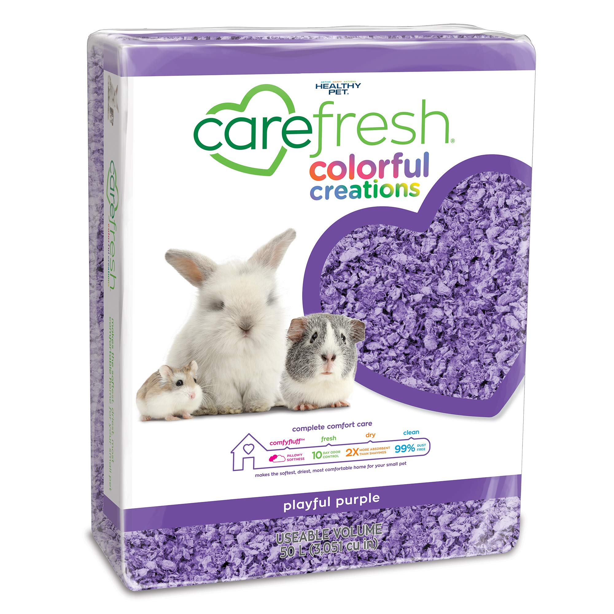 Carefresh Playful Purple Colorful Creations Small pet Bedding, 50L