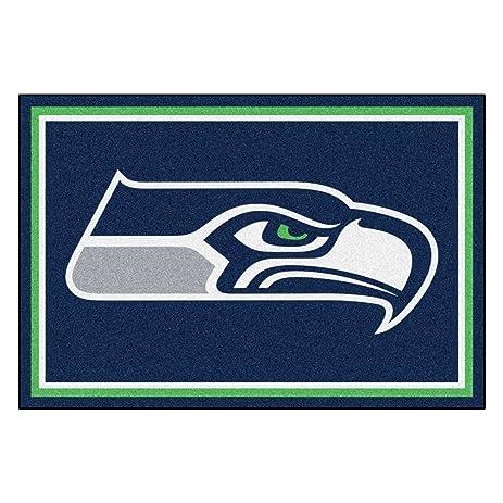 FANMATS NFL Seattle Seahawks Nylon Face 5X8 Plush Rug