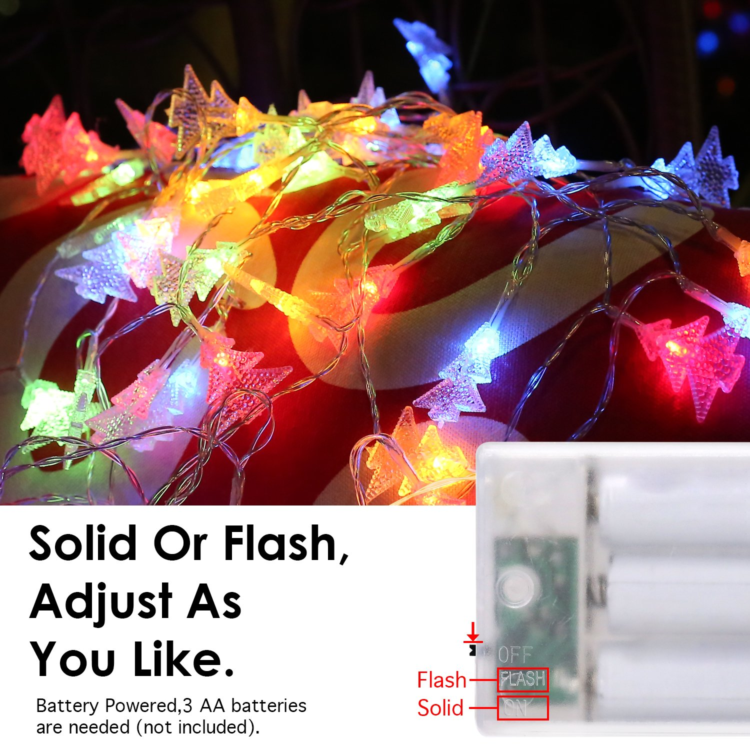 Amazon MoKo Xmas Tree String Lights 5m 16ft 40 LED Waterproof