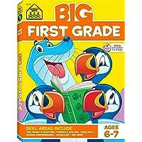 School Zone - Big First Grade Workbook - Ages 6 to 7, 1st Grade, Basic Math, Addition...