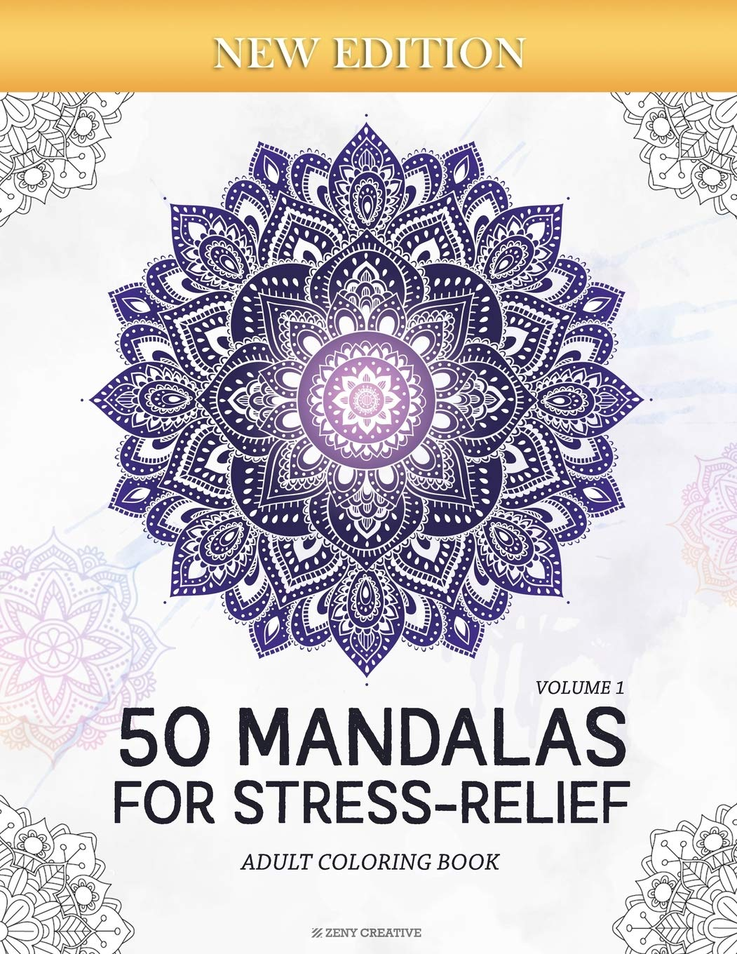 - 50 Mandalas For Stress-Relief (Volume 1) Adult Coloring Book