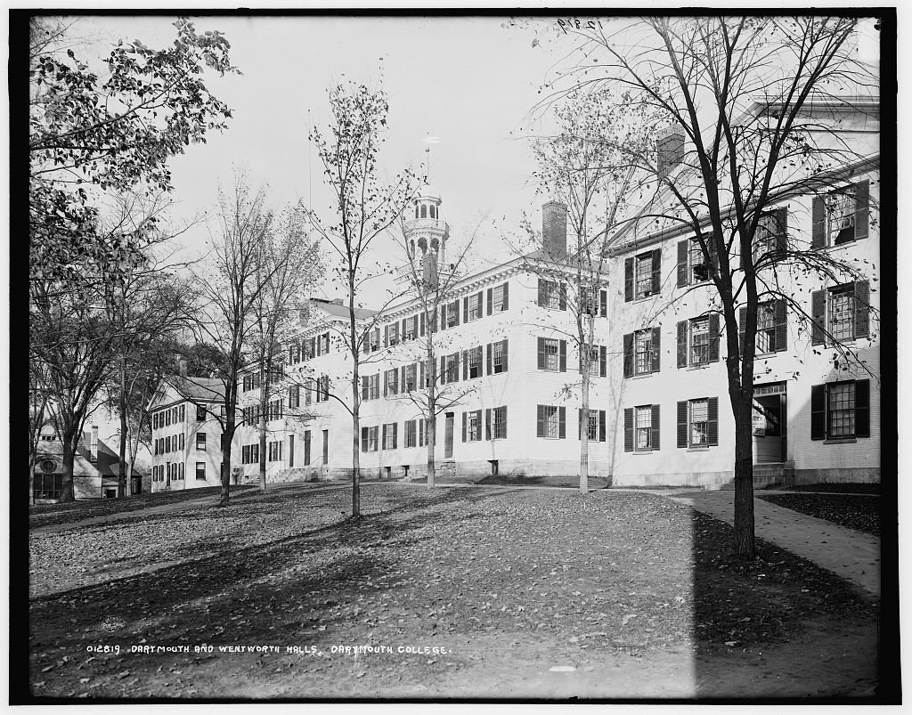 Vintography 8 x 10 Reprinted Old Photo Dartmouth Wentworth Halls Dartmouth College 1900 Detriot Publishing co. 34a