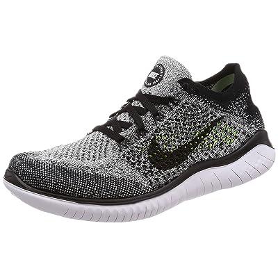 Nike Free RN Flyknit 2019 Women's Running Shoe (5.5 B US, Black/White) | Road Running