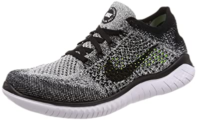 huge selection of ebf8c 49bcb Nike Free RN Flyknit 2018 Womens Running Shoe (5.5 B US, BlackWhite