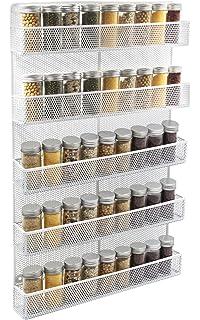 ESYLIFE 5 Tier Wall Mount Spice Rack Organizer Kitchen Spice Storage Shelf    Made Of Sturdy