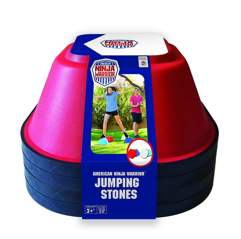 ANW American Ninja Warrior - Jumping Stones - 4 Pc. (Ninja Training, Backyard Obstacle Course, Jump Training)