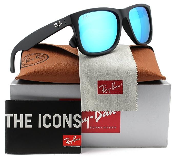 Ray-Ban RB4165 Justin - Gafas de sol mate negro w/azul ...
