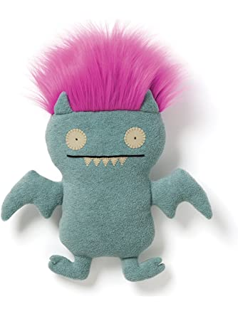 Uglydoll Bad Hair Day Ice Bat Blue Plush
