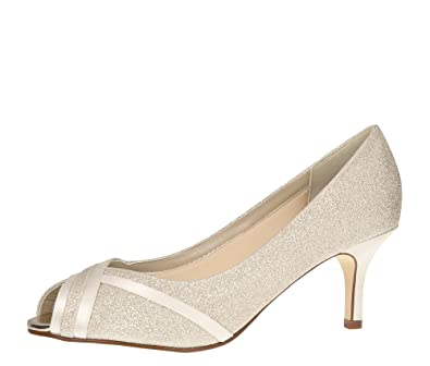 Rainbow Club Brautschuhe Margie - Pumps Peep Toe Ivory Satin - Damen - Gr  36 EU f1b3feae13