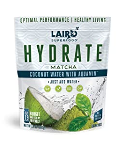 LAIRD SUPERFOOD Hydrate Drink Powder Matcha, 227 GR