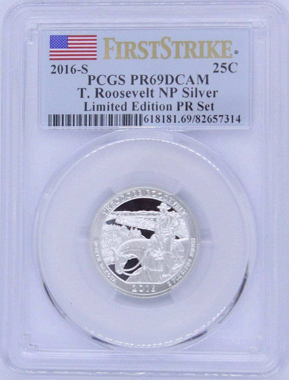 Roosevelt NP Silver Quarter 25C PR69DCAM PCGS Limited Edition Proof Set First Strike 2016 S T
