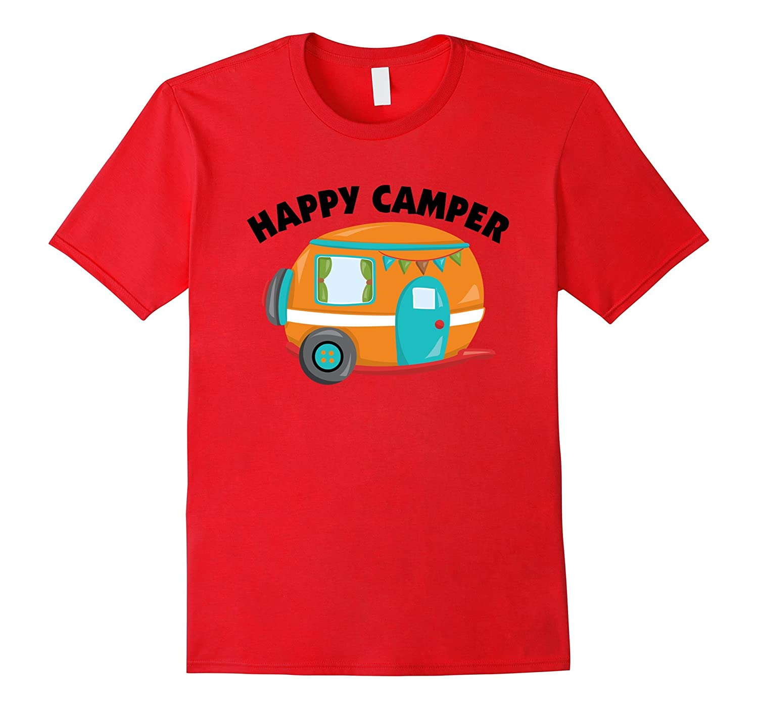 Happy Camper T-Shirt Funny Camping Shirt Outdoors Tee-TH