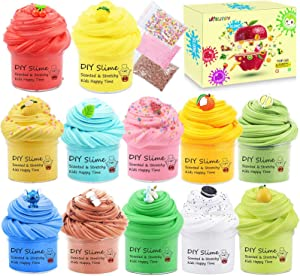 12 Pack Colorful Buter Slime Kit, Tactile Stimulation Toy for Kids Classroom Exchange Gifts, School Games, Party Favors, Prize, Super Soft Novelty Sensory and Stress Relief Putty Toys for Girls Boys