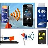Ice fishing Tip Up Alert Transmitter Light Blue Tooth + Smart Phone App Blue Tipz