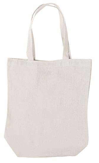 42b6eefff Natural Canvas Tote Bag - 12-Pack Reusable Cotton Tote Handbag, Plain DIY  Grocery