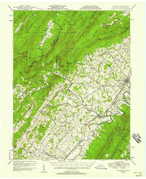 Amazon Com Yellowmaps Edinburg Va Topo Map 1 62500 Scale 15 X 15