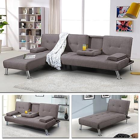 Schlafsofa Oxford Ecksofa Lounge Sofa Stoffsofa Wohnlandschaft