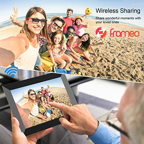 Frameo WiFi Digital Picture Frame 10.1 Inch 1280×800 IPS Touch Screen HD Display