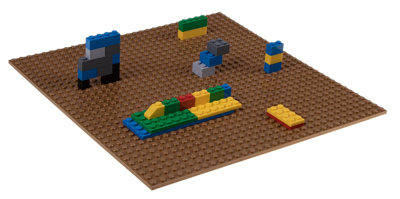 Azul 25,4 x 25,4 cm Compatible con Todas Las Grandes Marcas Strictly Briks Base apilable para Construir