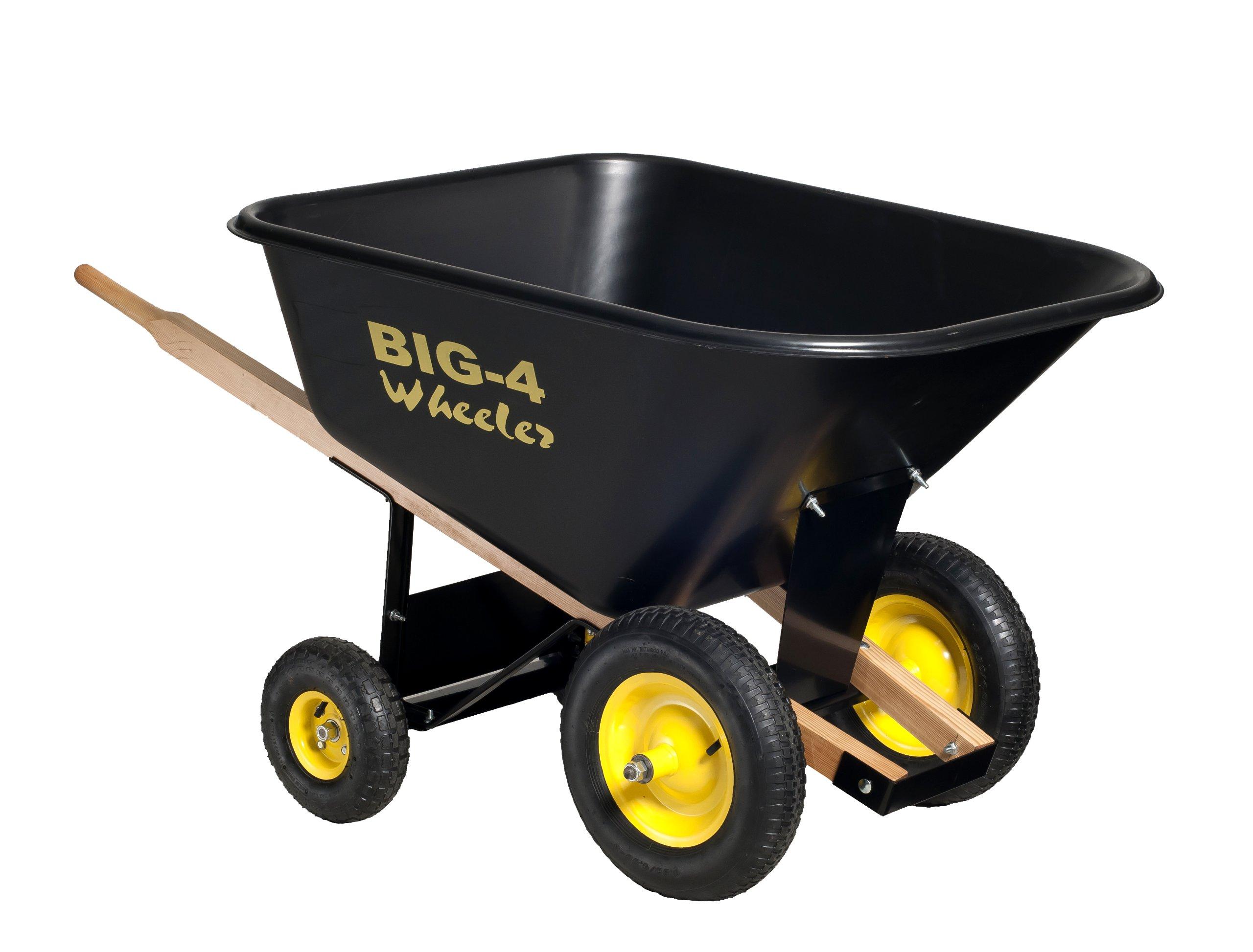 Big 4 Wheeler Heavy Duty Wheelbarrow, 10 Cubic Feet by Big 4 Wheeler