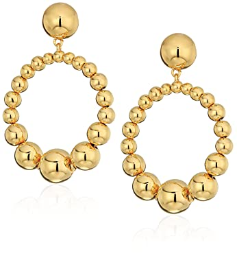 5a46d64939fdaa Amazon.com: kate spade new york Light Up The Room Hoop Gold Drop Earrings:  Jewelry