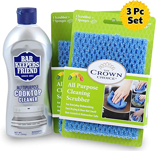 Amazon.com: Bar Keepers Friend limpiador vitrocerámicas Kit ...