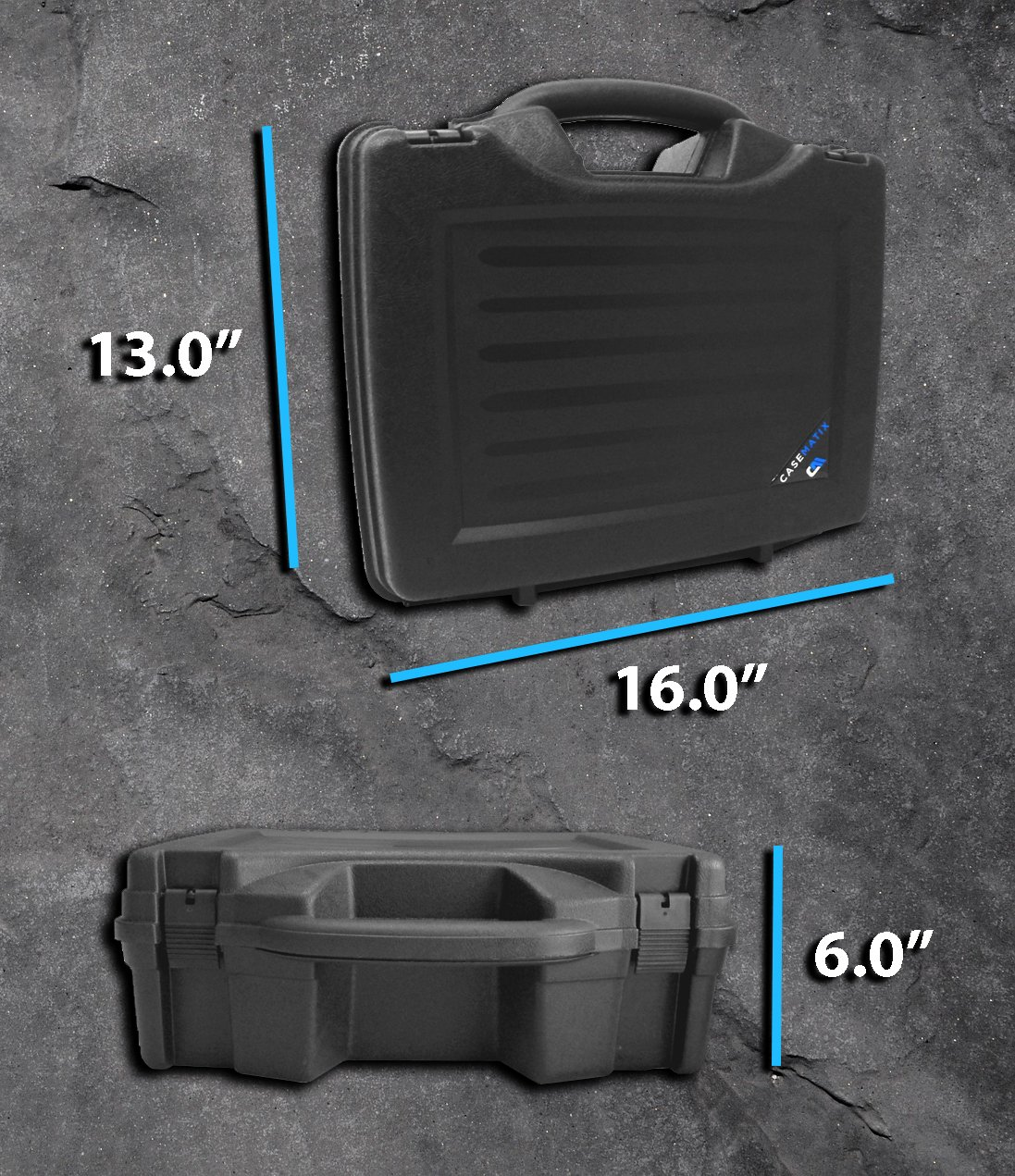 STUDIOCASE Wireless Microphone System Hard Case w/ Foam - Fits Sennheiser , Shure , Audio-Technica , Nady , VocoPro , AKG With Receiver , Body Transmitter , UHF Headset , Lavalier and Handheld Mics by CASEMATIX (Image #7)