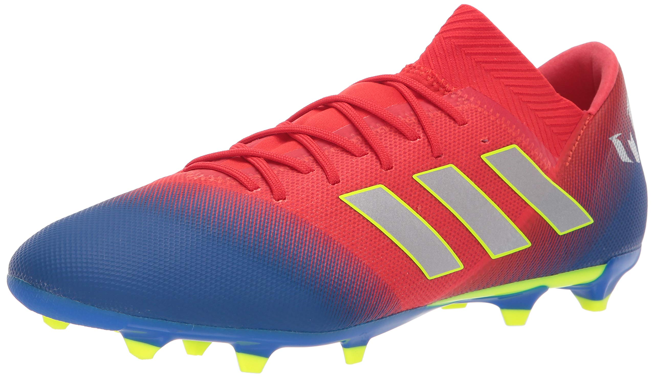 adidas Men's Nemeziz Messi 18.3 Firm Ground, Active red/Silver Metallic/Football Blue, 6.5 M US