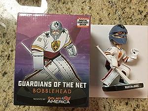 Martin Jones Signed Autographed San Jose Sharks Guardians of the net Bobblehead - Autographed NHL Figurines