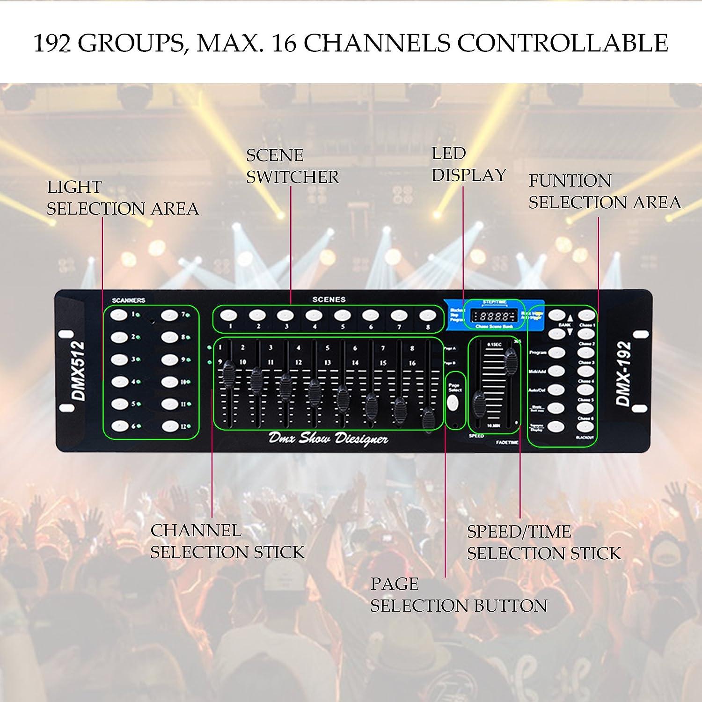 Amazon.com: CO-Z 192 DMX 512 Stage DJ Light Controller Lighting ...